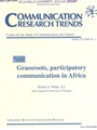 Communication Research Trends 7/2009